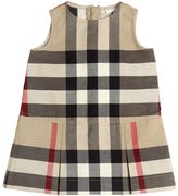 Burberry Sleeveless Check Cotton Gabardine Dress