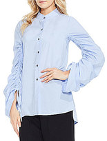 Vince Camuto Button Down Ruched Sleeve Shirt