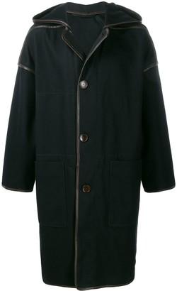 Lemaire Faux-Leather Trim Coat