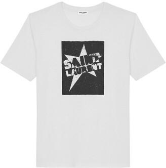 Saint Laurent Star Logo T-Shirt