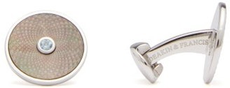 Deakin & Francis Dreamcatcher Mother-of-pearl & Silver Cufflinks - Grey