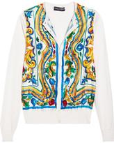 Dolce & Gabbana Printed Silk Cardigan - Yellow