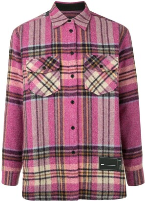 we11done Plaid Wool Overshirt