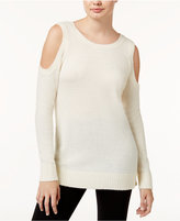 Kensie Warm Touch Cold-Shoulder Sweater
