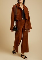 KHAITE The Krista Jacket in Cocoa Suede