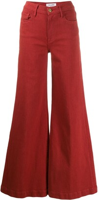 Frame flared high-rise jeans
