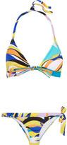 Emilio Pucci Fiore Maya Printed Triangle Bikini - Blue