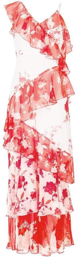 Alice + Olivia Alice+Olivia floral-print ruffled maxi dress