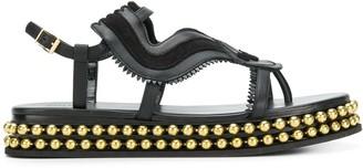 Chloé Almond Toe Studded Sole Sandals