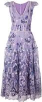 Marchesa floral A-line dress