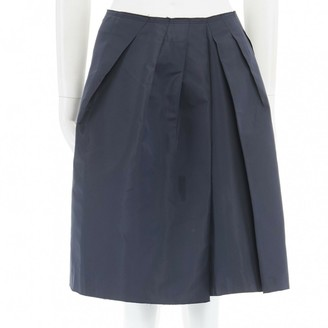 Prada Navy Cotton Skirt for Women