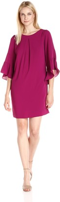 Amy Byer Women's Juliette Sleeve A-Line Dress
