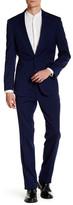 Kenneth Cole New York Light Grey Sharkskin Two Button Notch Lapel Suit