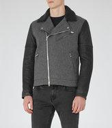 Reiss Florentine Contrast Biker Jacket