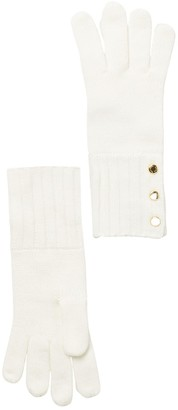 Michael Kors Button Detailed Knit Gloves