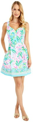 Lilly Pulitzer Linnet Stretch Dress (Multi Totally Blossom Engineered Woven) Women's Dress
