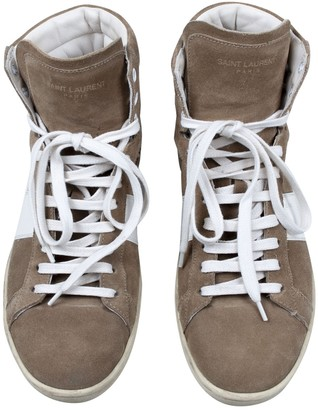 Saint Laurent Brown Leather Trainers