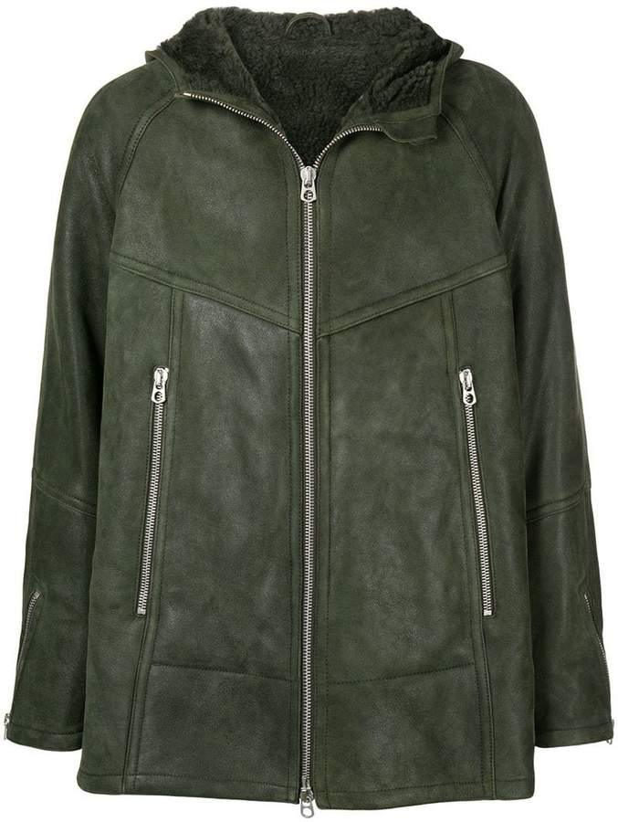 Drome shearling lined coat