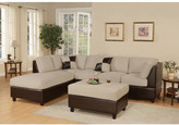 Andover Mills Corporate Reversible Chaise Sectional & Ottoman