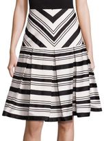 Alexis Emerson Box Pleated Fit & Flare Skirt