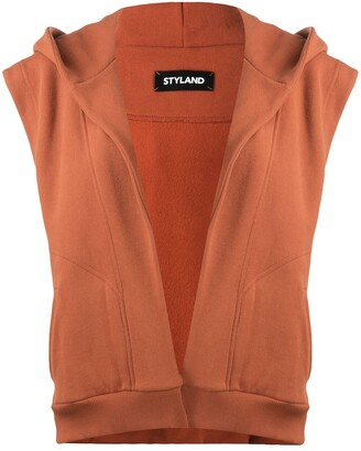 Styland Sleeveless Cotton Hoodie