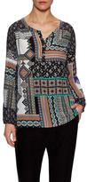 Nanette Lepore Bohemian Silk Printed Blouse
