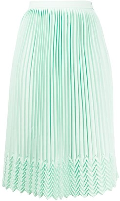 Marco De Vincenzo Chevron Detail Pleated Skirt