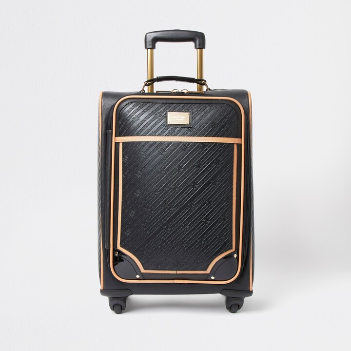 Thumbnail for your product : River Island Womens Black RR embossed suitcase