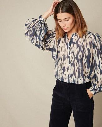 Hartford Courtney Ikat Shirt - Size 2 UK10