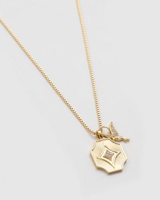 Wanderlust + Co Hummingbird Gold Necklace