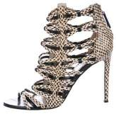 Jason Wu Snakeskin Caged Sandals