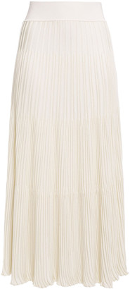 CASASOLA Ansa Ribbed-knit Midi Skirt