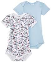 Petit Bateau Set of 2 baby boys short-sleeved bodysuits