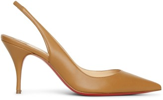 Christian Louboutin Clare Sling 80 cafe creme pumps