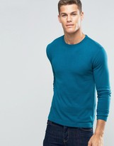 Benetton Viscose mix Crew Neck Sweater
