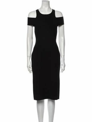 Michael Kors Off-The-Shoulder Midi Length Dress Black