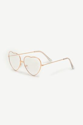 Ardene Heart Glasses