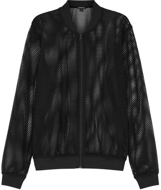 Koral Activewear Base Black Mesh Bomber Jacket