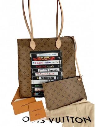 Louis Vuitton Carry it Brown Cloth Handbags