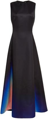Lanvin Pleated Degrade Duchesse-satin Gown