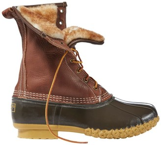 "L.L. Bean Men's Bean Boots by L.L.BeanA, 10"" Tumbled-Leather Shearling-Lined"