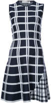 Victoria Beckham checked flared dress