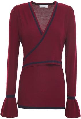 Rebecca Vallance Wrap-effect Merino Wool Sweater