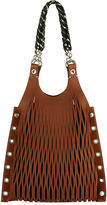 Sonia Rykiel Camel Le Baltard Lattice Tote Bag