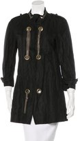 Gryphon Embellished Knee-Length Coat