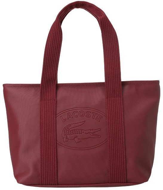 Lacoste New Classic Medium Tote (Bordeaux Red) - Bags and Luggage
