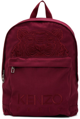 Kenzo Purple Canvas Kampus Tiger Backpack