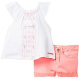Hudson Top & Short 2-Piece Set (Baby Girls)