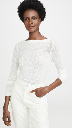 TSE Cashmere Pointelle Sweater