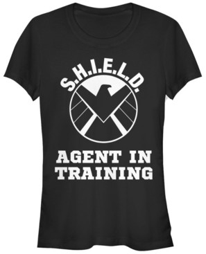 Fifth Sun Marvel Women's S.h.i.e.l.d. Agent in Training Eagle Academy Short Sleeve Tee Shirt